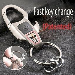 Adorox Multifunctional LED Flashlight Key Chain Bottle Opener Key Ring Zinc Alloy Keychain