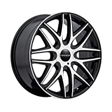 Cruiser Alloy Endure 18 Machined Black Wheel / Rim 5×4.5 & 5×120 with a 42mm Offset and a 74.1 Hub Bore. Partnumber 915MB-8755742