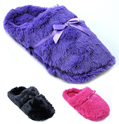Enimay Women's Girls Fuzzy Slippers Indoor House Shoes Warm Fluffy Soft Furry