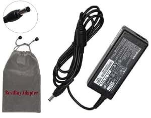 Toshiba 75-Watt Global AC Adapter Power Cord for Toshiba Satellite Notebook Series:PSALWU-022035,A355-SC2901, PSALWU-056009,E105-S1402,PSE10U-002003,E105-S1602,PSE10U-00D007,E105-S1802,PSE11U-003001,E205-S1904,PSE20U-002001, Compatible with PA3468U-1ACA