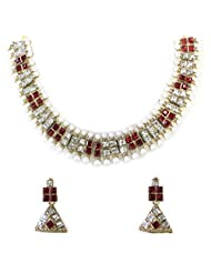 KUNDAN NECKLACE SET BY ZAVERI PEARLS - ZPFK1159