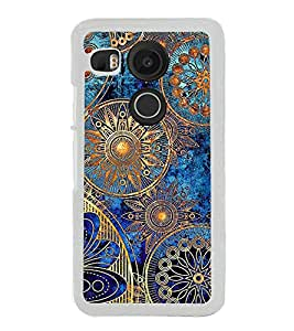 ifasho Designer Phone Back Case Cover LG Nexus 5X :: LG Google Nexus 5X New ( Green Blue Pattern )