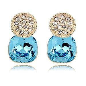Amazon.com: Gold Swarovski Elements Crystal Diamond Accent Moonlight