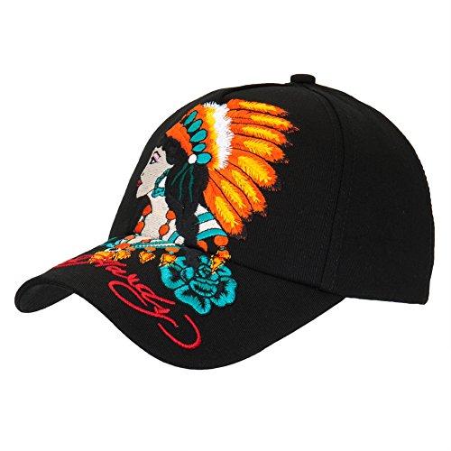 Ed Hardy - Native American Woman Girls Youth Adjustable Baseball Cap