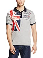 Geographical Norway Polo Kiltss (Gris / Azul Marino / Rojo)
