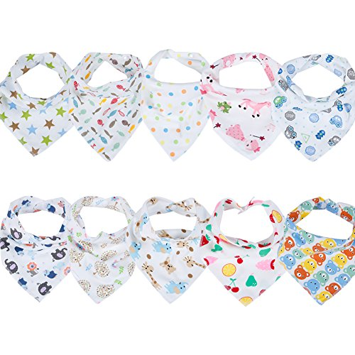 Baby Dreieckstuch Lätzchen Spucktuch 10er Pack (B)