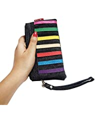 Shopoholics Small Size Purse/Batwa For Womens, Ladies With Detachable Strap To Carry (Denim Black With Multicolor...