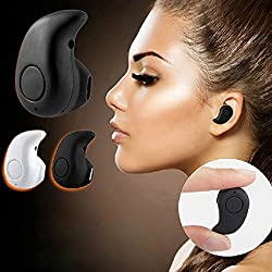Newest Smallest Wireless Invisible Bluetooth Mini Earphones Earbuds Headsets Headphones Support Hands-free Calling for Iphone Samsung Xiaomi Sony Lenovo HTC Lg and Most Smartphone S530 (Black)