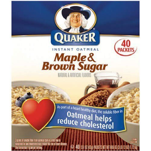 Quaker Instant Oatmeal Maple Brown Sugar - 40ct (030000401026)