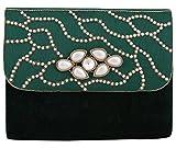 Vdesi Women's Sling Bag (Green Gold Off-White) (V035GRN)