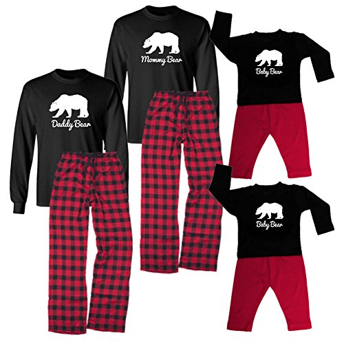 We Match! Mommy Bear, Daddy Bear, Baby Bear & More Family Bears Matching Holiday Outfits Set - Infant Through Adult Sizes (Unisex Medium, Black LST, Red Plaid Pants, Daddy Bear) (Daddy Bear Shirt compare prices)