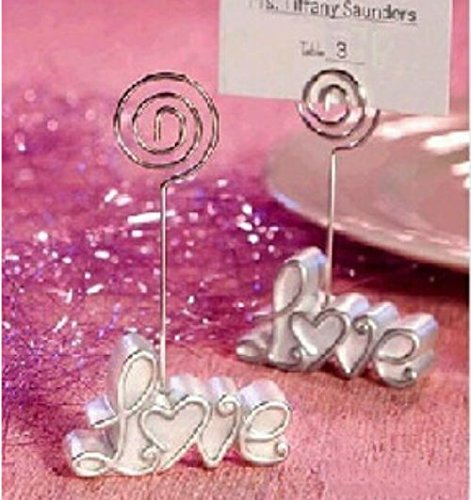 Creative Love Place Card/Photo Holders Baby Shower Gifts & Wedding Favors, 12