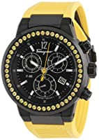 Salvatore Ferragamo Unisex F55LCQ68Y09 SR05 F-80 Yellow Sapphires on Bezel Ring Chronograph Watch by Salvatore Ferragamo
