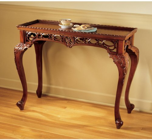 Cheap 18th Century Victorian Antique Replica Hand Carved Console Table (AF7266)