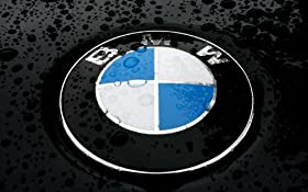 BMW Glossy Hood or Trunk Emblem 82mm 3.25 Inches 1 3 5 7 Series Badge