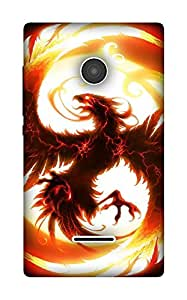 The Racoon Grip Firesome hard plastic printed back case / cover for Microsoft Lumia 532
