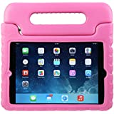 iPad 2 Kids Case: Stalion® Safe Shockproof Protection for Apple iPad 2nd 3rd & 4th Gen (Hot Pink) Ultra Lightweight + Comfort Grip Carrying Handle + Folding Stand
