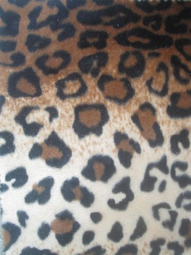 Velboa Faux Fur Fabric - Brown/Light Brown Spotted Leopard - Only $6.49/Yard