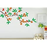 Sky Solution Decor Home Design Wall Sticker For Tree Branch Wall Sticker Large Size - 24*36 (Inch) - Multicolor