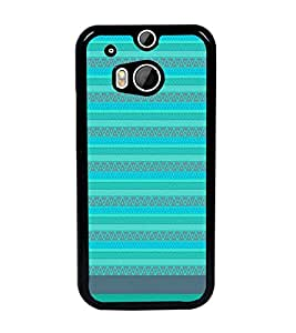 PrintDhaba Tribal pattern D-1857 Back Case Cover for HTC ONE M8s (Multi-Coloured)