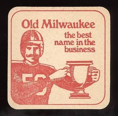 1972 Old Milwaukee Beer Football Coaster