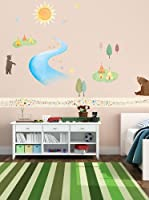 Ambiance Live Vinilo Decorativo Bears and tipis Fluorescent