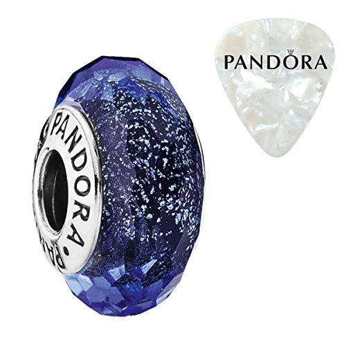 Blue Fascinating Iridescence Charm, Two Piece Bundle, with Pandora Clasp Opener