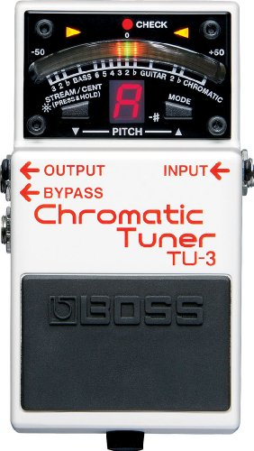 Boss TU-3 US Chromatic Tuner, Convenient Pedal-Based w/21-segment LED meter