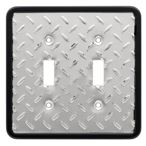 Liberty Hardware 135861 Diamond Plate Wp Collection 4.96 Inch Switch Plate - Polished Chrome