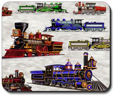 Decorative Mouse Pad Trains & Signs Train