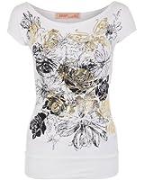 KRISP® Femme T-Shirt Imprimé Papillon