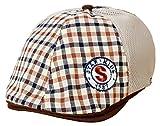 (トヨベイ)Toyobuy 子供用 可愛い ベレー帽 キャスケット ハンチング帽 男の子 女の子 つぼ短い キャップ 通学 お出かけ 日よけ チェック柄(ブラウンD)
