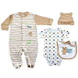 Little Bear 4-Piece Layette Set, 3-6 months [Apparel]