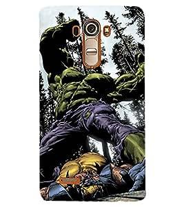 PRINTSHOPPII HULK Back Case Cover for LG G4::LG G4 H815