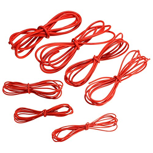 2 Meter Red Silicone Wire Cable 10/12/14/16/18/20/22AWG Flexible Cable