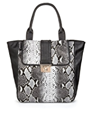 M&S Collection Faux Snakeskin Shopper Handbag