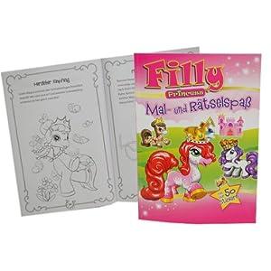 Schauen Sie sich Kundenbewertung für Filly Malbuch und Rätselbuch mit Sudoku und Zeichenschule + 50 Sticker Kind