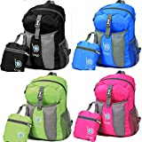 Packable Backpack For Men, Women And Children - Lightweight Foldable Rucksack - Use As Travel Bag, Daypack, Carry On For More Luggage Space - Folds Into It's Inner Pocket - AVOID OVERWEIGHT CHARGES - 100% RISK FREE SATISFACTION GUARANTEE !