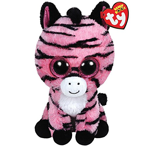 Ty Beanie Boos Zoey The Pink Zebra Plush