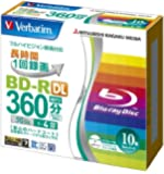 Verbatim Mitsubishi 50GB 4x Speed BD-R Blu-ray Recordable Disk 10 Pack - Ink-jet printable - Each disk in a jewel case (japan import)