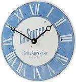 Roger Lascelles Convex Enamel French Wall Clock La Source 11-Inch Kitchen Clock
