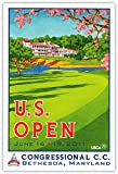 Signed 2011 U.S. Open Congressional Poster by Lee Wybranski