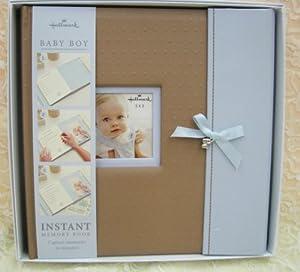 Amazon Com Hallmark Baby Boy Instant Memory Book Baby