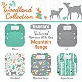 Thirsties Package, Natural Newborn All In One Hook & Loop, Woodland Collection Mountain