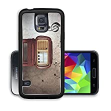 buy Liili Premium Samsung Galaxy S5 Aluminum Case Abstract Vintage Music Notes With Old Radio Image Id 23215260