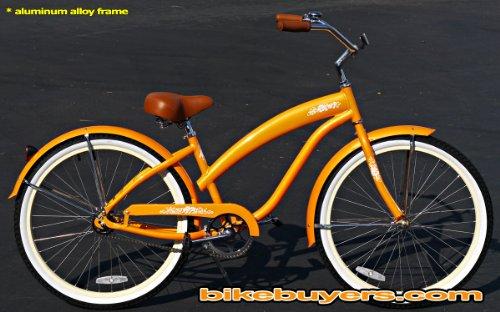 Anti-Rust Aluminum frame, Fito Modena EX Alloy 1-speed Orange Women's Beach Cruiser Bike Bicycle Micargi Schwinn Nirve Firmstrong style