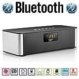 AGM Bluetooth スピーカー HIFI 3D ステレオ 4WX2 YOUTUBE視聴可 低音専用ウーハー装備 迫力サウンド 多機能 ( FMラジオ ) ( ハンズフリー テレホン ) ( LINE IN ) ( USBメモリー ) ( MICRO SD ) ( 時計 ) ( 目覚まし ) ( カレンダー ) 安心の基本機能一年メーカー保証 日本語説明書付 DY21L (ブラック)