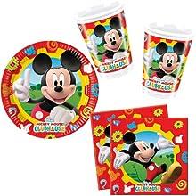 Comprar Procos - Juego de vajilla para fiestas (40 piezas, 10 platos, 10 vasos y 20 servilletas para cumpleaños infantiles y fiestas), diseño de Mickey Mouse de Disney