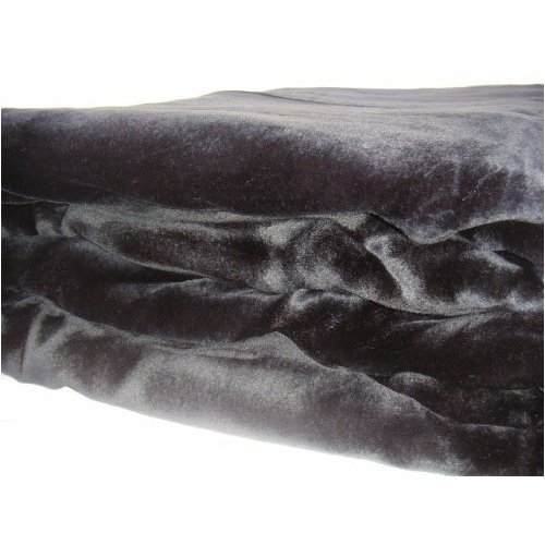 Brand New Queen Size Solid Super Soft Plush Mink Blanket Black