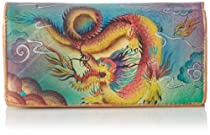 Hot Sale Anuschka 1095 Wallet,Imperial Dragon,One Size